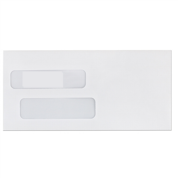 E602 - SELF SEAL Large Double Window Envelopes (1,000 counts)