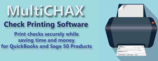MultiCHAX - CHECK PRINTING SOFTWARE DEMO/TRIAL - Software - CHAX SOFTWARE INC