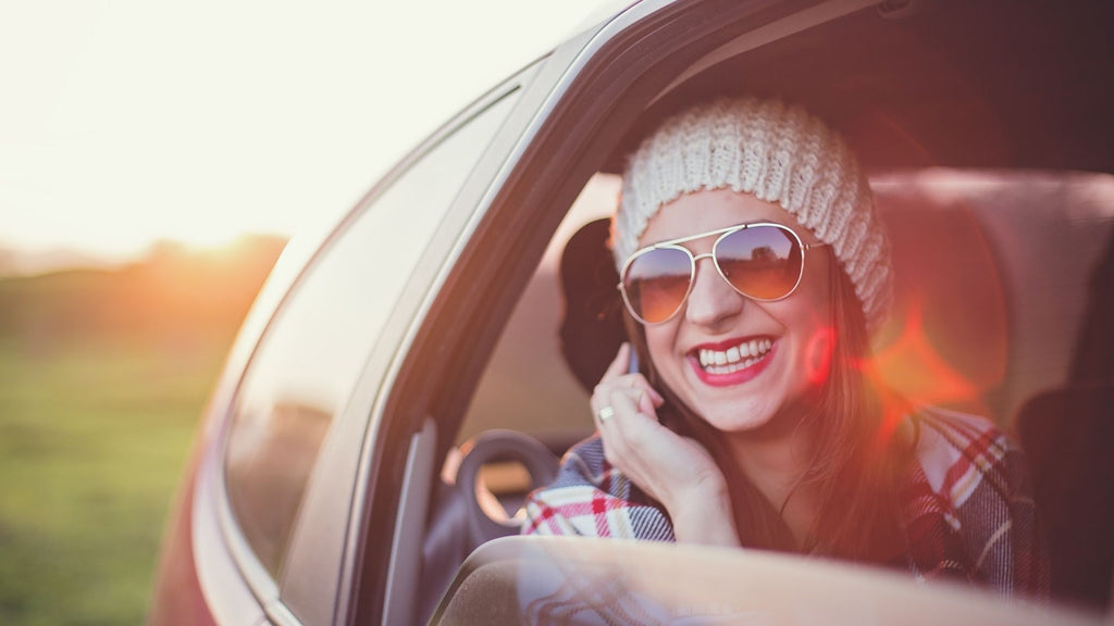Calling friends and family on road trip