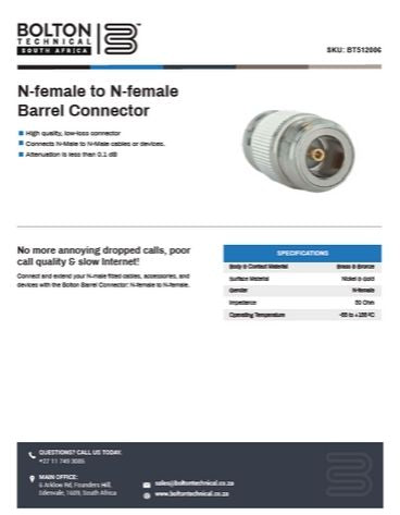 Female to Female Barrel Connector
