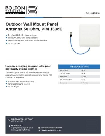 Outdoor Wall Mount Panel