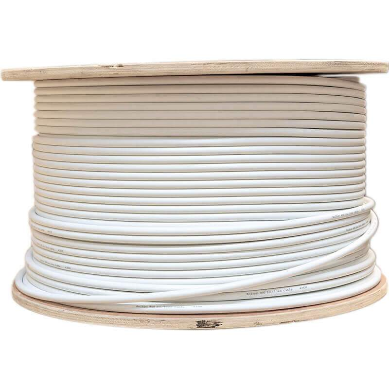 Bolton400 Ultra Low-Loss WHITE Cable | 100 Meter Spool