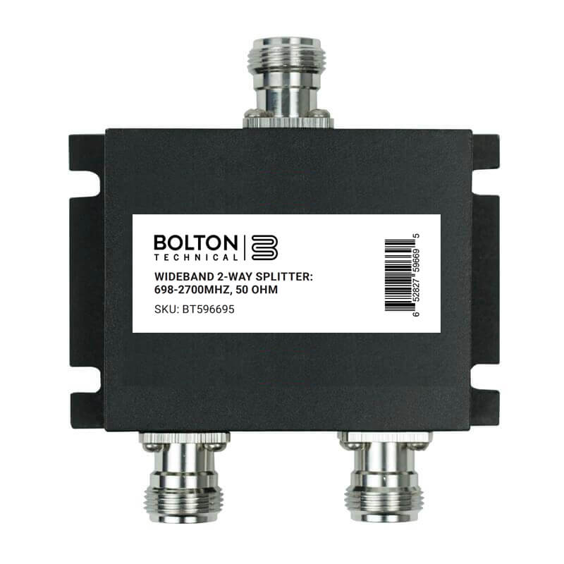 Wideband 2-Way Splitter for 698-2700Mhz, 50 Ohm (Wilkinson Style)