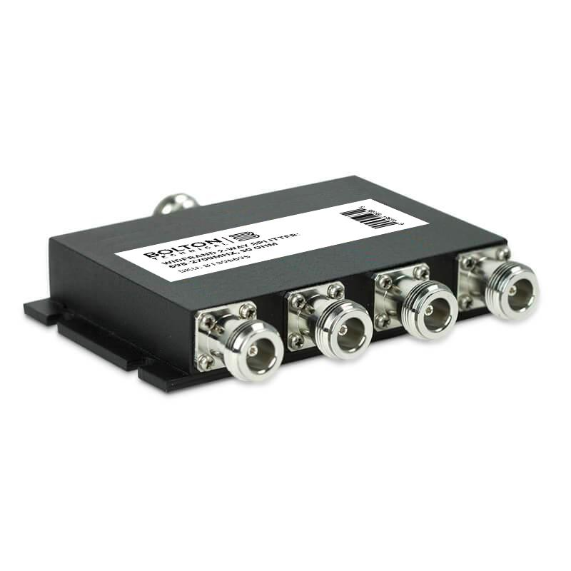 Wideband 4-Way Splitter for 698-2700Mhz, 50 Ohm (Wilkinson Style)