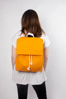 Mara orange waterproof backpack