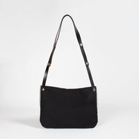 Zoe waterproof and leather satchel