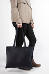 Wax waxed cotton tote shoulder bag grey black green orange blue oilcloth waterproof
