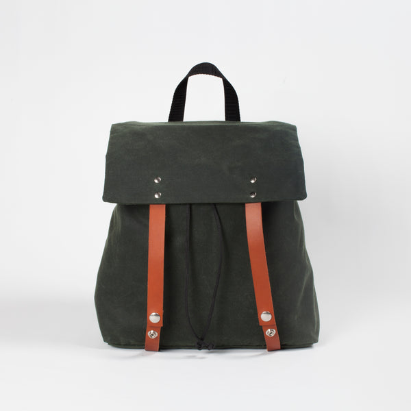 Max forest green waterproof backpack
