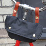 Cara wax cotton handlebar cycling bag black
