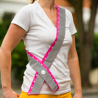 Cycling reflective sashes