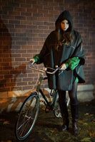 Emma by night Reflective waterproof cycling cape