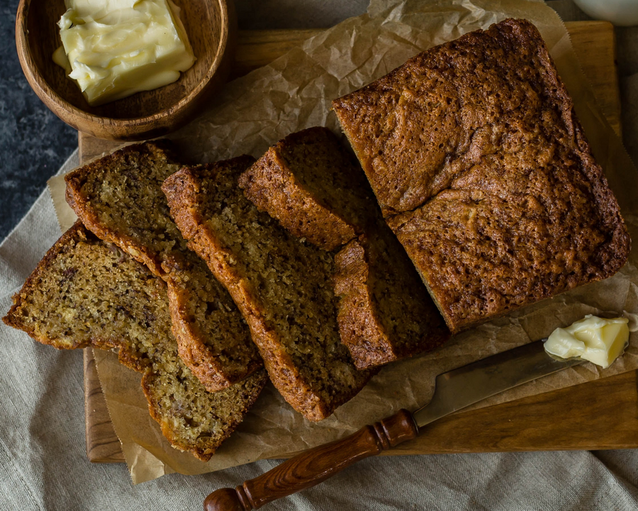 Banana Nut Loaf (gf/vf)