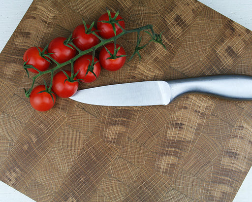 Devon oak end grain chopping board
