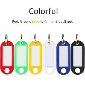 Uniclife Rubber-like Plastic Key Tags 20 Pack