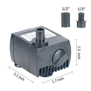 Uniclife Submersible Water Pump 80 GPH