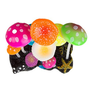 UnicLife Aquarium Decoration Glowing Effect Artificial Mushroom-Top