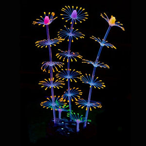 Uniclife Strip Coral Plant Ornament Glowing Effect,Orange