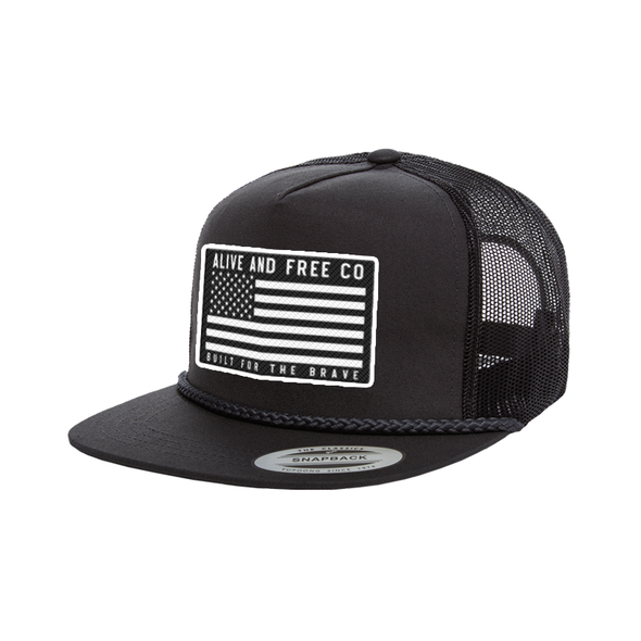 """Built for The Brave"" Trucker Snapback"