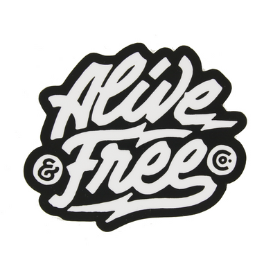 Black And White Logo Sticker