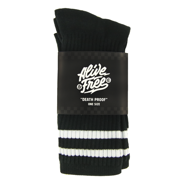 """Death Proof"" Crew Socks"