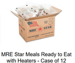 MRE Star Meals Ready to Eat with Heaters - Case of 12