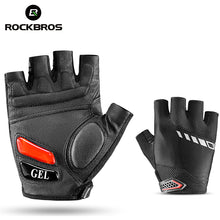 RockBros Cycling Bike Bicycle Short Gloves Silicone Gel Thickened Pad SBR Shockproof Breathable Half Finger Glove Bike Equipment