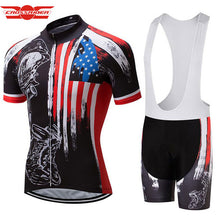Crossrider Summer Honor the Fallen Cycling Clothing USA Men's Cycling Jerseys MTB Short bib Sets Ropa Ciclismo Bike Wear Clothes