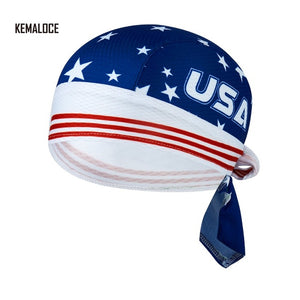 KAMALOCE UV Protection Team Men Summer Full Sublimation Cycling Cap scarf White Skull Bicycle Bike Bandana