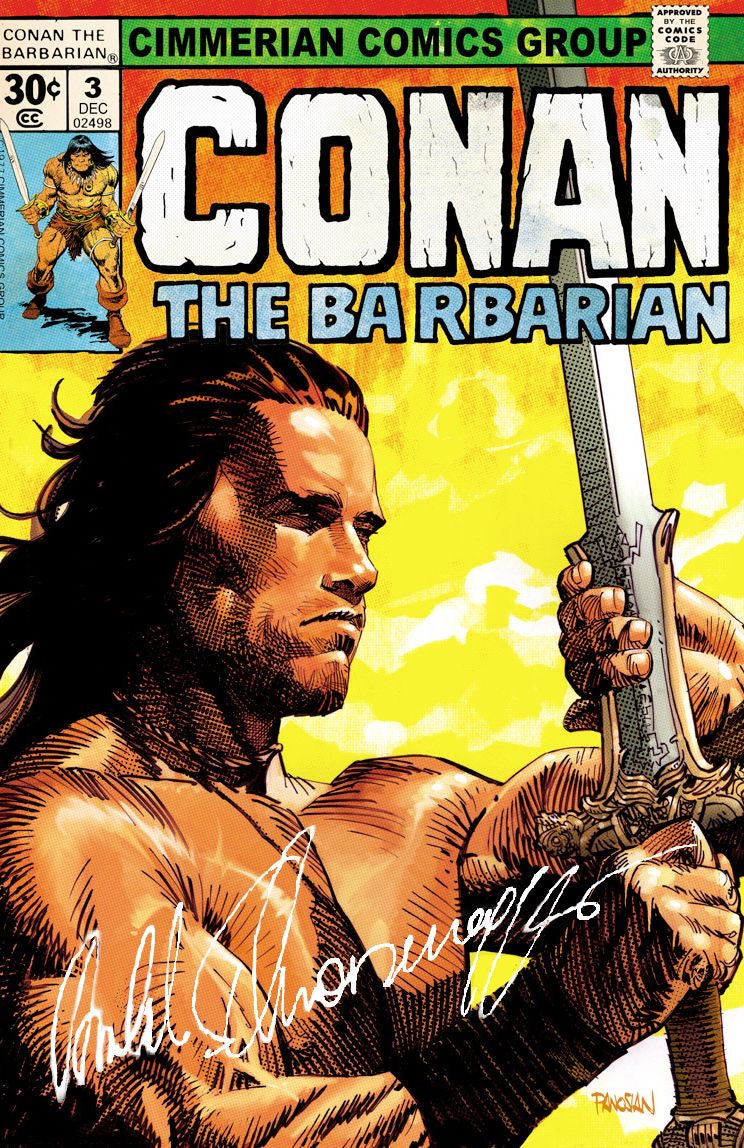 AUTOGRAPHED LIMITED EDITION CONAN GICLEÉ