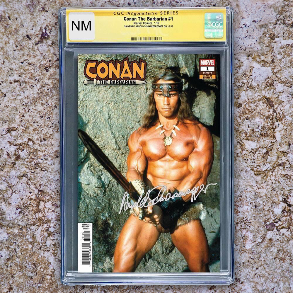 Conan the Barbarian #1 CGC NEAR MINT Signed Arnold Schwarzenegger