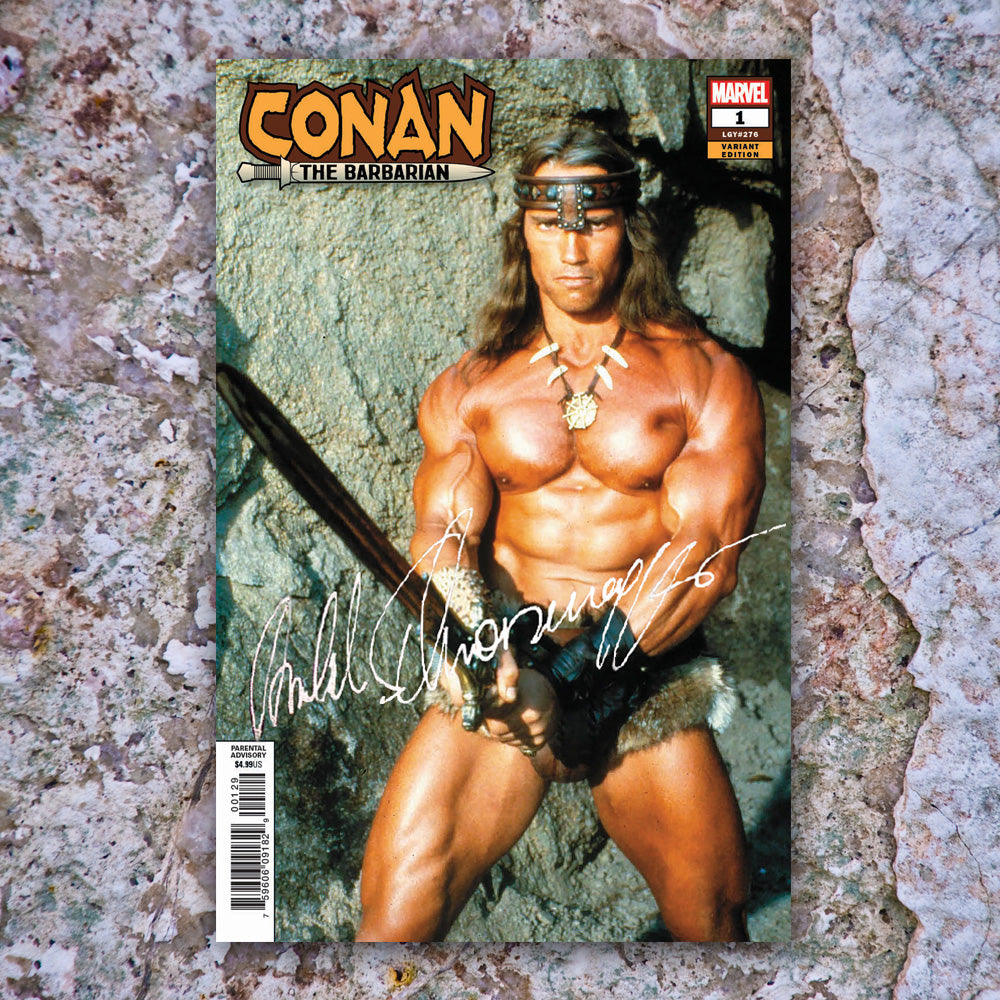Conan the Barbarian #1 RAW w/COA Signed Arnold Schwarzenegger