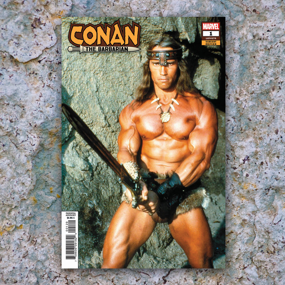 Conan the Barbarian #1 RAW Unsigned Arnold Schwarzenegger Cover