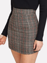 Plaid Zip Back Skirt