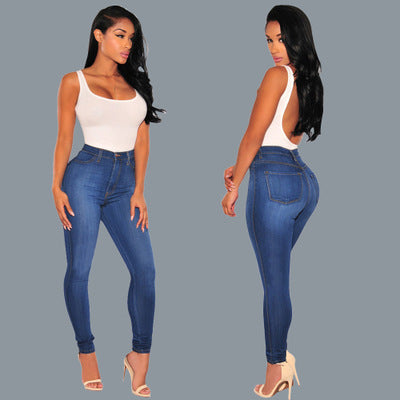 Solid Slim Stretch Jeans