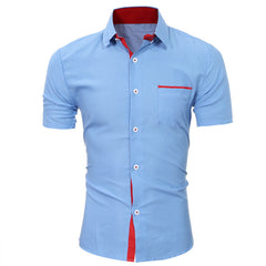 Short Sleeve Button Up Dress Shirt