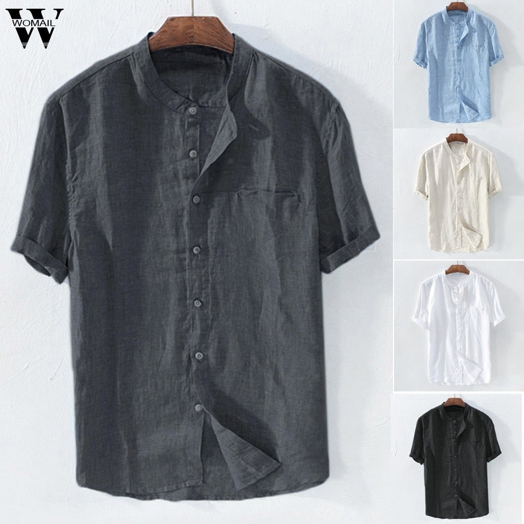 Lightweight Button Up Shirt with Collar