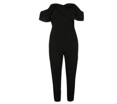 Off-shoulder Full Length Jumpsuits