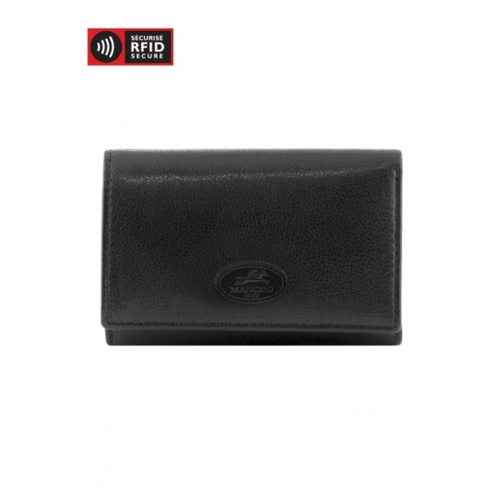 RFID Secure Trifold Key Case Wallet with Detachable Key Ring