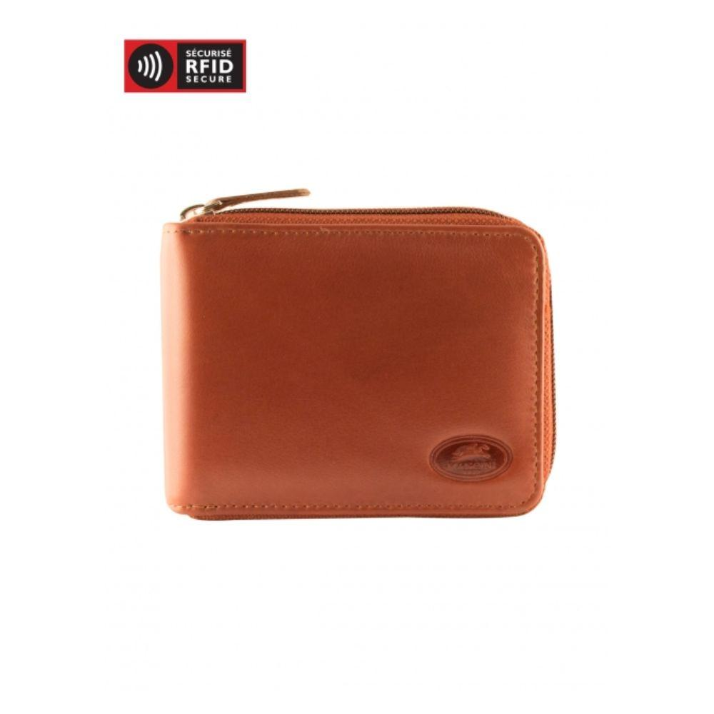 Men's RFID Secure Zippered Wallet With Removable Passcase