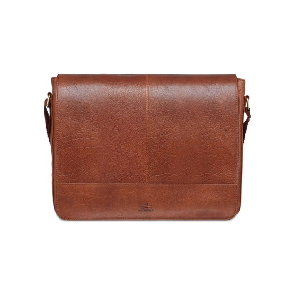 "Vegetable Tanned Top Grain Buffalo Leather Messenger Bag for 15"" Laptop / Tablet, 15.5"" x 3"" x 13"""