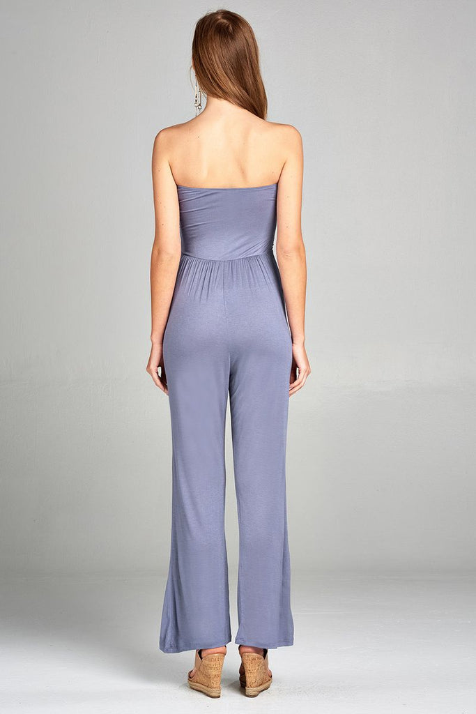 Long Strapless Jumpsuit