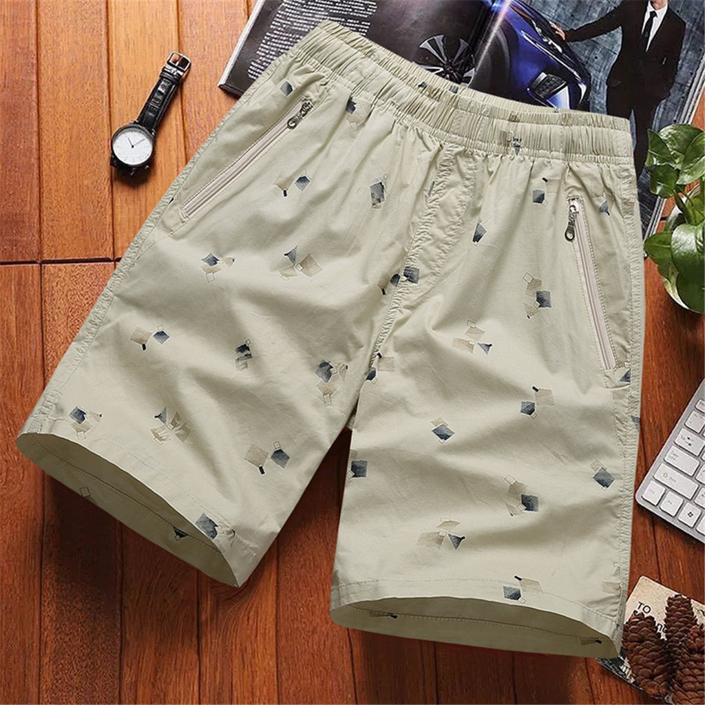 Loose Cropped Cargo Shorts