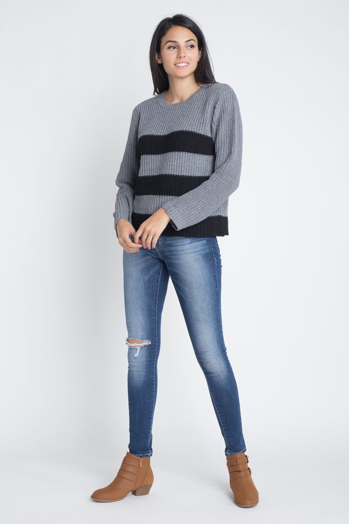 Stripe Round Neck Sweater