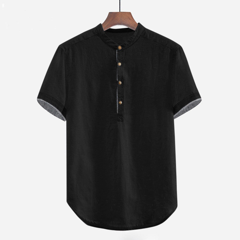 Short Sleeve Button T-Shirt