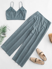 Cami Pocket Straight Pants Set