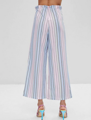 Ombre Striped Wide Leg Pants
