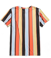 Vertical Striped Short Sleeve T-Shirt