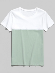 Color Block T-shirt - Macaw Blue Green