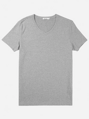 V-neck T Shirt - Gray