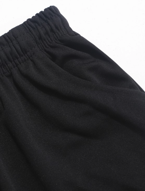 Solid Color Sport Jogger Pants - Black